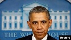 Բարաք Օբաման Սպիտակ տանը խոսում է ուկրաինական ճգնաժամի մասին, 17-ը մարտի, 2014