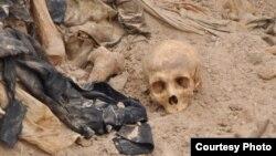 احدى المقابر الجماعية التي خلفها حكم البعث