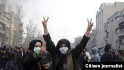 Протестующие женщины в Тегеране, 14 февраля 2011