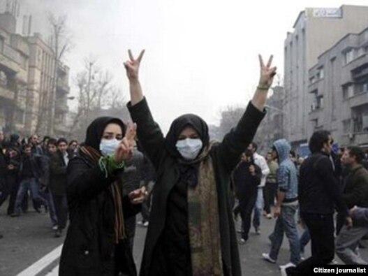 نمایی از تظاهرات روز دوشنبه ۲۵ بهمن ماه در تهران