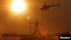 «Союз ТМА-16М» на стартовому майданчику перед стартом