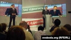 Petro Poroșenko la o întîlnire cu presa la Kiev