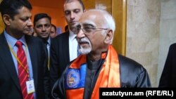 Вице-президент Индии Мохаммад Хамид Ансари в Ереванском государственном университете, 26 апреля 2017 г․