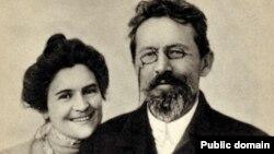 Anton Çexov və arvadı Olga Knipper