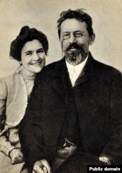 Çexov və arvadı Olga Knipper-Çexova