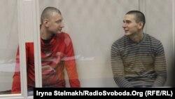 Сергій Зінченко і Павло Аброськін у Печерському суді Києва, 23 січня 2015 року