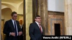 Заменик државниот секретар на САД и специјален претставник на Стејт департментот за Западен Балкан Метју и српскиот претседател Александар Вучиќ