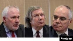 Մինսկի խմբի համանախագահներ (ձախից աջ) Իգոր Պոպովը, Ջեյմս Ուորլիքը և Պիեռ Անդրիոն: