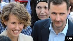 Asma Al-Asad me bashkëshortin e saj, presidentin sirian, Bashar Al-Asad