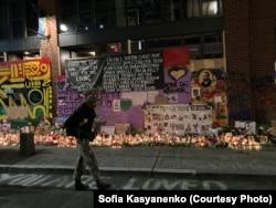 Мемориал жертвам полицейской агрессии
