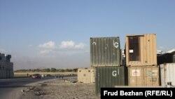 АҚШ әскери базасының бос қалған контейнерлері.
