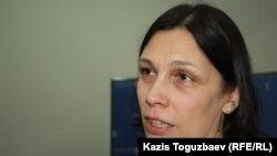 Татьяна Чернобиль, правозащитник. Алматы, 2 декабря 2014 года.