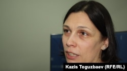 Татьяна Чернобиль, құқық қорғаушы. Алматы, 2 желтоқсан 2014 жыл.
