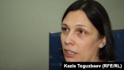 Құқық қорғаушы Татьяна Чернобиль. Алматы, 2 желтоқсан 2014 жыл.