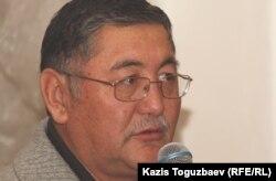"Рысбек Сарсенбай, главный редактор газеты ""Жас Алаш"". Алматы, 15 декабря 2012 года."