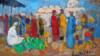 Uzbekistan - painter Avaz Mutal, Bazaar
