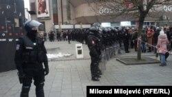 """Policija na protestu """"Pravda za Davida"""""""