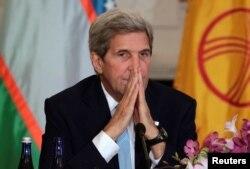Джон Керри на встрече с главами МИД стран Центральной Азии в Вашингтоне