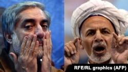 Комбіноване фото: Абдулла Абдулла (л) і Ашраф Гані Ахмадзай (п)