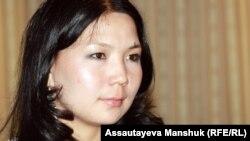 Журналист Инга Иманбай. Алматы, 11 қыркүйек 2012 жыл.