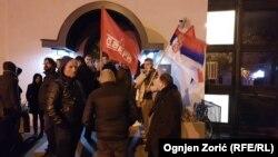 Blokada ulaza u RTS u Aberdarevoj ulici