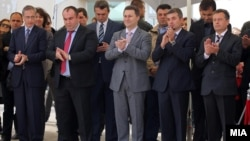 Владина делегација на поставување на камен-темелник на Текно-Хозе.