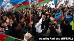 Ադրբեջան - Ընդդիմության ցույցը Բաքվում, 8-ը ապրիլի, 2012թ.