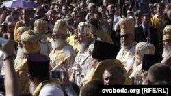Молебен в Минске в ознаменование 1025-летия Крещения Руси