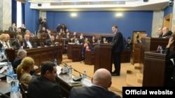 Представление доклада о либерализации визового режима ЕС в парламенте. Тбилиси, 21 октября 2015 года.