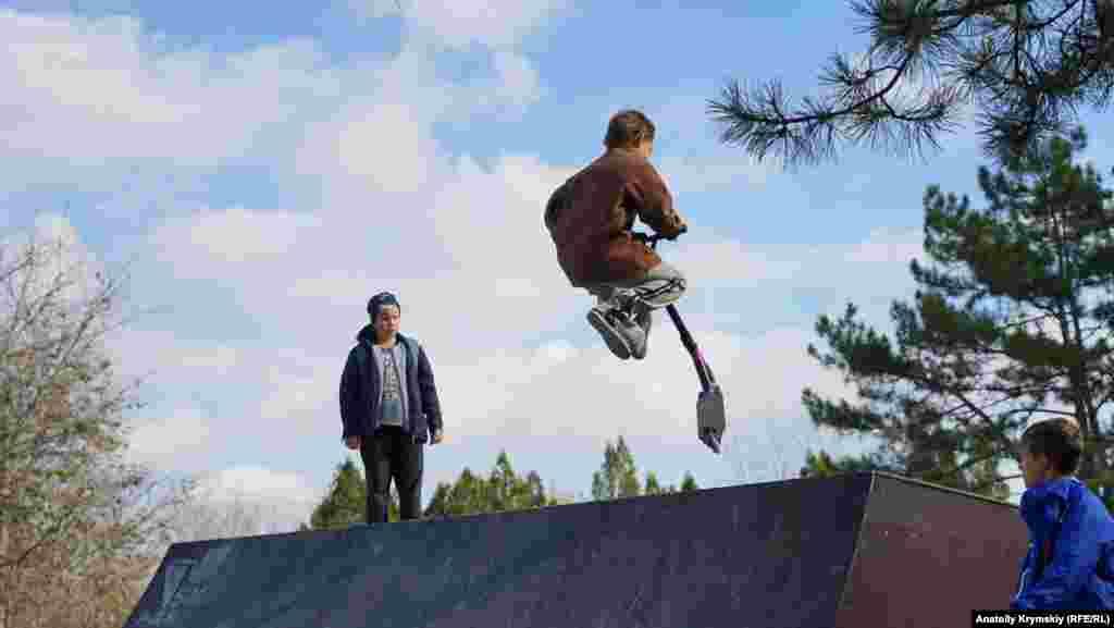 Нещодавно відкритий скейт-парк у міському парку Перемоги