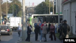 Гвалтоўнае затрыманьня 16 верасьня на вуліцы Палескай. Уладзімер Мышак
