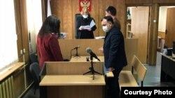 Георгий Образцов в суде. Фото пресс-службы судов Петербурга