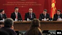 Вицепремиерот Владимир Пешевски, министерот за економија Ваљон Сарачини и директорот на ЕЛЕМ Влатко Чинговски