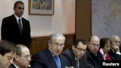 Israel -- Prime Minister Netanyahu attends cabinet meeting in Jerusalem, 24Feb2010