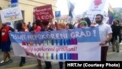 Prvi osječki gay pride, foto: Hrt.hr