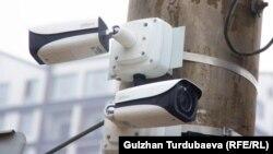 Камера видеонаблюдения в Бишкеке.