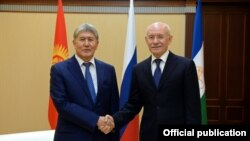 Алмазбек Атамбаев менен Рустэм Хамитов