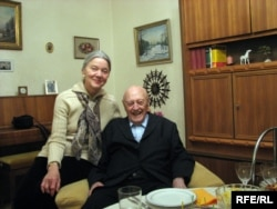 Барыс Кіт і Тамара Казевіч на сямейным сьвяце. 2010 год