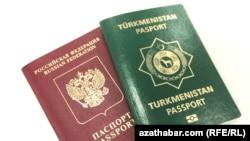 Паспорта Туркменистана и России