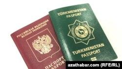 Türkmenistanyň we Orsýetiň pasportlary