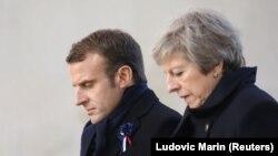 Predsednik Francuske Emanuel Makron i britanska premijerka Tereza Mej