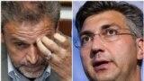 Croatia -- Combo -- Croatian politicians Milan Bandic (L) and Andrej Plenkovic, undated