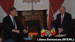 Klaus Iohannis și Nicolae Timofti, Chișinău, 28.11.2014