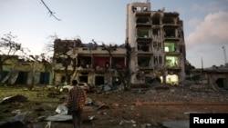 Սոմալի - Մոգադիշուի Ambassador հյուրանոցը հարձակումից հետո, 1-ը հունիսի, 2016թ․