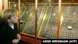 Канцлер Німеччини Анґела Меркель у музеї «Зелене склепіння» (архівне фото)