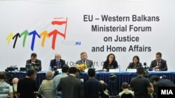 Macedonia - Ministerial Forum on Justice and Home Affairs in Ohrid, 04Oct2011