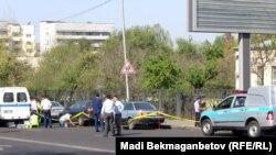 Полицейские на месте происшествия. Алматы. Иллюстративное фото.
