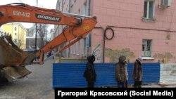 Протест иркутян против строительства гостиницы, ноябрь 2018 года