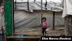 Ребёнок в лагере Мориа на острове Лесбос, 9 марта 2020 года