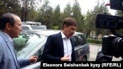 Сапар Исаков после допроса в ГКНБ. 26 апреля 2018 года.